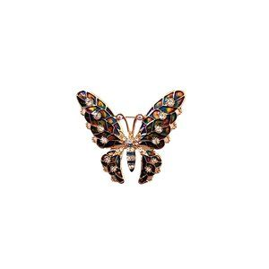 Jewelry - Colorful Rhinestone Butterfly Shaped Brooch Pin